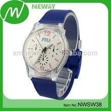 customized design silicone japan movement quartz watch sr626sw