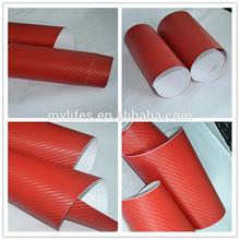Bubble free self-adhesive 3D carbon fiber/3D carbon foil/3D carbon