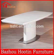 2014 HOT simple modern design rectangular wood metal white dining table room furniture