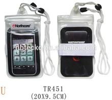 100% Sealed transparent universal TPU waterproof smart phone bag
