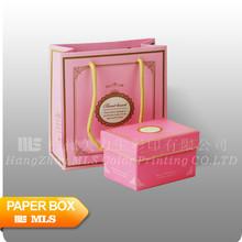 printed paper pink packaging gift box