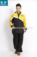 OEM waterproof taslon motorcycle fluorescent jacket windproof taslon fabric jacket 2014 new style polyester rain jacket
