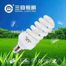 hot sell 220v 26w E27 6400K spiral CFL in zhongshan