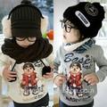 Wt-0291wholesale modainverno criançasinfantil crianças roupas vestuário meninos coreano quente vogue moda casua velo longo casaco camisola