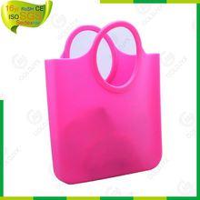 custom fashion silicone shopping bag,ladies silicone bag