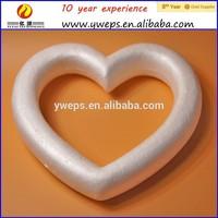 heart shaped styrofoam wreaths
