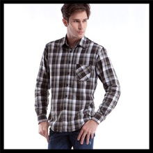 2013 new best products for import chunky casual man plaid t shirt packaging