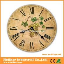 round antique metal clock wall