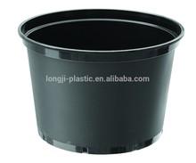 plastic plant pots wholesale, black flower pot, black 10 gallon planter pot