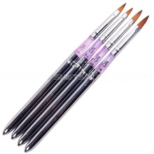 Yimart Pro Marble Sable Acrylic Nail Art Uv Gel Carving Pen For Paint Brush Liquid Powder DIY
