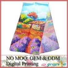 No MOQ Custom Satin Digital Printing Silk Scarf