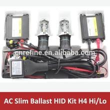 12V 35W slim ballast H4 hi lo hid xenon kit