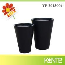 Art Style Tall Black Cone Modern Planter