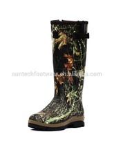 SHAKA Mossy Oak camouflage Wellington Men rubber boots with YKK zipper hunting boots