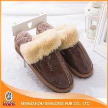 Cheap wholesale genuine sheepskin slippers