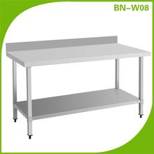 Popular fashion designer work table / worktable stainless steel worktable kitchen tables BN-W08