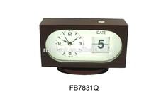 Home decor Alarm wooden clock with calendar