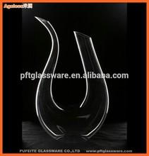 wholesale U shape high quality wine decanter glassware