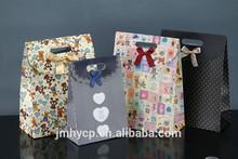 2015 custom hand make offset printed brown paper shopping bags