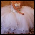Un service personnalisé 2015 vestido de noiva une ligne sweetheart cou, 106t manches longues robes de mariée en organza perlée en turquie