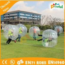 Craze fun sport game soccer bubble inflatable human bowling ball