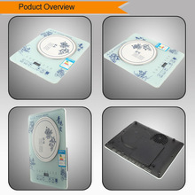 electric touch induction cooker with tempered glass slim body