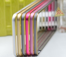 Double colors aluminum arc bumper for iPhone 6 and 6 plus