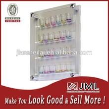 24 Shot Wall Mounted Side Loading clear acrylic Glass Display Case Side Loading, Clear Acrylic with Standoffs