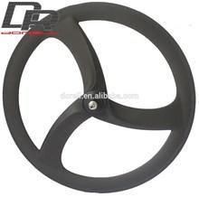 Surprise! Cool carbon tri spoke wheels 56mm depth aero spoke wheels 700c