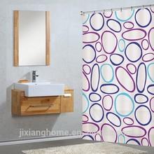 180X200 Colored Circles Heavy-Duty Waterproof Bathroom Shower Curtain