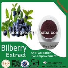 fresh dried frozen bilberry powder