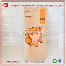 Custom printed eco friendly flexible packaging snack food paper bag