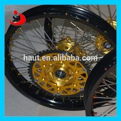 Golen Color Dirt Bike Parts Motocross/Supermoto Parts Aluminum Wheels