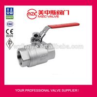 304 316 2PC Ball Valves 1000WOG Gasoline Float Valves