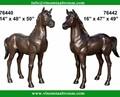 modern jardim escultura de bronze do cavalo tamanho life