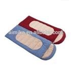 Outdoor camping envelope type polar fleece sleeping bag/couples can be spliced sleeping bag