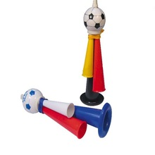Plastic football fans whistle for kids