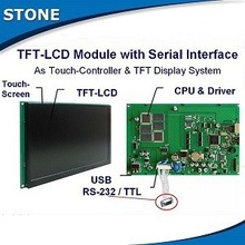 stone colourful tft lcd controller card with rs232 & touch screen