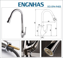 Chrome plated single lever brass sink tap