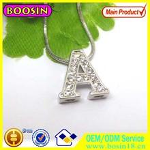 European Distributors wholesale 10mm sliding letters silver charms #14910