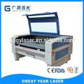 Gy-1480d, co2 láser, 1400*800 de la máquina láser para el paño, de cuero de corte y grabado, la decoración interior, grabado