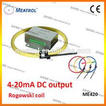 High Quality 4-20mA DC output flexible rogowski coil ME420 current sensor series