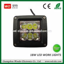 18w led work spot/flood light 10V 30V offroad Truck led work lamp