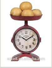 Shabby chic antique home decor metal desk clock