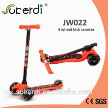 mini micro kids kick ce 120/80mm PU nylon plastic 4 wheel stand up scooter