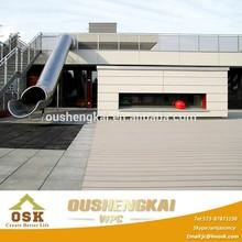 2015 construction building modern house WPC wall panels wood plastic composite decks