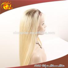 Virgin indian grey natural Human Hair Full Lace Wig