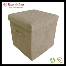 Microsuede leather pouf ottoman footstool,folding footstool ottoman