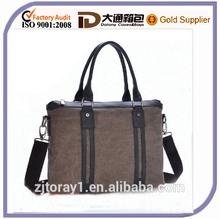 Men's Canvas Leather Briefcase bag Handbag
