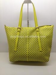 2015 latest design fashion PU laser cut summer shopping bag